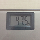 あゆりなさんの毎日の体重報告