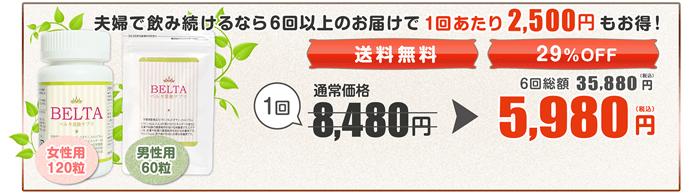 ベルタ葉酸サプリの夫婦定期コース5980円