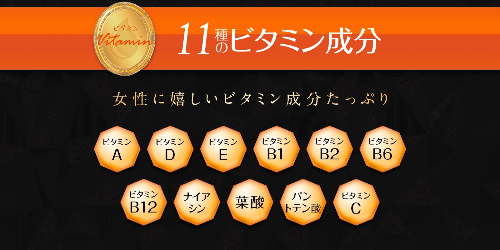 11種のビタミン成分